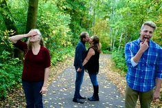 Family Pictures - I find these kind amusing, its funnier cuz the kids are like teens!
