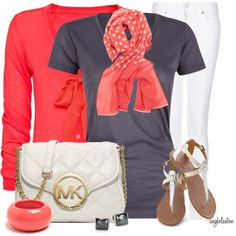 """""""Spring Scarf, Tee, Metallic Shoe Contest 3"""" by angkclaxton on Polyvore"""