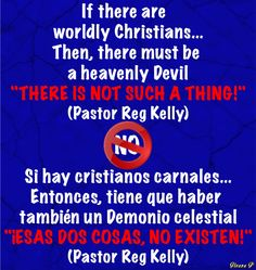 Worldly Christians?...There is not such a thing! Pastor Reg Kelly.