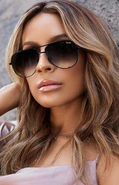 b14ae7c0f2 Quay X Desi High Key Mini Sunglasses Black Fade Black Ray Ban Aviators