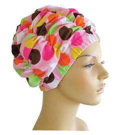Luxury Spa/Pool/Shower Cap - Pink with Dots by Jane Inc. by Jane Cosmetics. $25.00. Great for pool, shower, or to protect your hair durning spa treatments. Stylishly attractive - made of Brazillian swimsuit fabric. Wide elastic Band to comfortably frame face and keep hair dry. Fully lined with breathable, waterproof, sports-nylon. Lycra Spandex cap expands to contracts to protect your hair or hair extensions.. Look great and protect your hair, hair extensions,...
