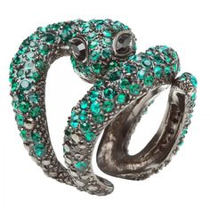 Roberto Cavalli Crystal snake ring (1.860 BRL) ❤ liked on Polyvore featuring jewelry, rings, accessories, women, roberto cavalli jewelry, swarovski crystal jewelry, snake jewelry, crystal jewelry and swarovski crystal rings