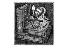Zamonien - Galerie   Walter Moers Library Games, Big Books, Dream Book, Cute Monsters, Tabu, Dream City, Painting Inspiration, Tatting, Tutorials