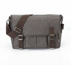 Amazon.com: OiOi Chocolate Crushed Wax Canvas Messenger Diaper Bag - Style 6503: Clothing