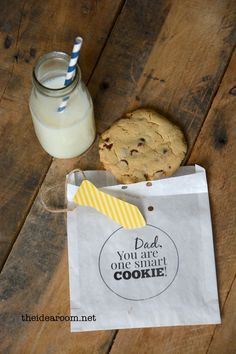 Super cute Father's Day gift idea from @Amy Huntley (TheIdeaRoom.net) #fathersday #gift #cookie