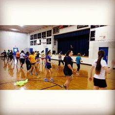 """This morning in the gym, the """"Be All You Can Become"""" and Softball Minimester groups did some Zumba!  viewbook.sms.org"""
