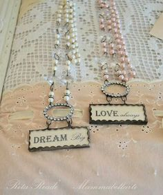 Newest creations, solder charms, love always, dream big. Rosary chain mammabellarte