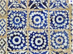 blue tiles - Handmade tiles can be colour coordinated and customized re. shape, texture, pattern, etc. by ceramic design studios