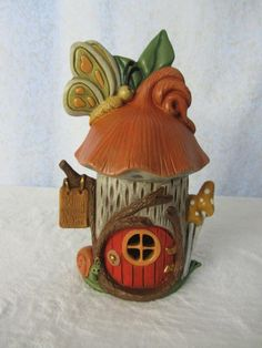 Fairy House  Handmade Bird House  Butterfly by TeresasCeramics, $25.00