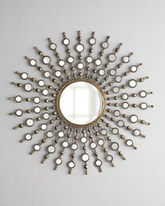 "If only I thought $350 for a mirror was worth it. I love this so much. ""Kimani Starburst"" Mirror at Horchow."
