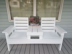 DIY Double Chair Bench with Table - DIY Projects@diypete
