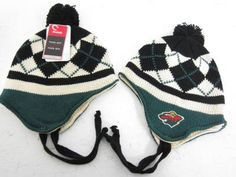 Minnesota Wild Reebok Face Off Knit Stocking Cap Hat Toque OSFA Free Shipping | eBay