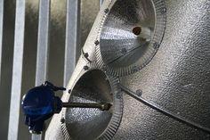 Metal sheet work around instruments.