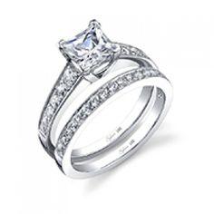 Classic Tapered Princess Cut Diamond Engagement Ring