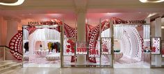 LOUIS VUITTON - YAYOI KUSAMA's pop up store for Selfridges London is explicitly derived from Kuama's series of Pumpkin installations and endless Polka dot pa...