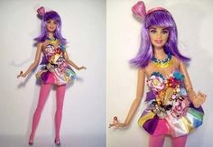 Haha this one's cute!..Katy Perry California Gurl Barbie