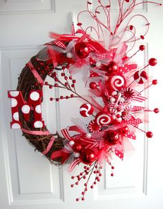 Peppermint Sticks & Lollipops Wreath... perfect for my dream candy-themed decor