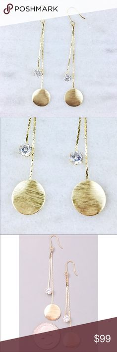 Coming SoonLike to be notified of arrival Gold plated metal alloy earrings with crystal Jewelry Earrings