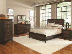 The Conway Collection is a breath of fresh air for your bedroom. The design and finish give any bedroom a relaxed, rustic feeling; the kind that one gets from being out in the fresh, open air. The unique bandsaw-effect brown complemented by deep black tones, give the collection a distinct contemporary look and the simple, short detailing create a cool, calming feeling in the room.
