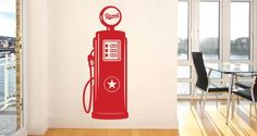 Gas Pump Vinyl Wall Decal by Dezignwithaz on Etsy, $38.00