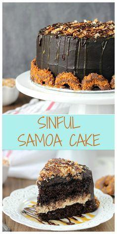 Sinful Samoa Cake |