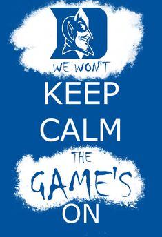 Duke Blue Devils Basketball / Football - Graffiti Keep Calm - 13x19 Poster