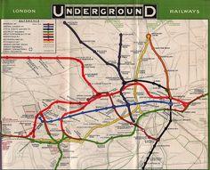 London Underground tube map, 1908