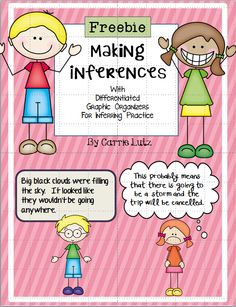 Inferring is a hard skill to teach and to assess. I found that my first grade students do so much better when I scaffold their instruction by giving them the inference and asking for the text. They finally began to be able to give me the inference when I gave them the text. We are still working on completing the entire graphic organizer independently, but this will be better to leave for 2nd and 3rd graders.