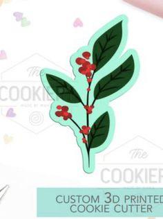 Custom Cookie Cutters, Custom Cookies, Leaf Cookies, Prints