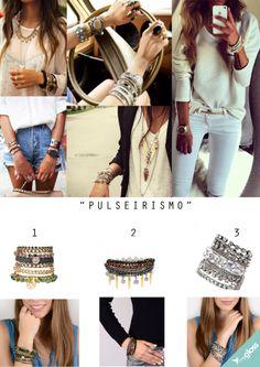 O pulseirismo está na moda! Que tal facilitar um pouco a vida e usar pulseiras que já são combos? A My Gloss tem alguns modelos perfeitos pra você!