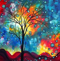 Megan Aroon Duncanson (MADART) has a distinct flair for modern/contemporary art. Her style and use of color are unmistakable. Bright, rich color and abstract composition draw the viewer in for a long Frames On Wall, Framed Wall Art, Pintura Graffiti, Art Encadrée, Modern Art, Contemporary Art, Wal Art, Painting Prints, Art Prints
