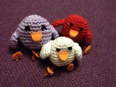 Amigurumi birds.