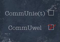 Grappige communiekaart voor Zijn of Haar communie!Volg;Communie wel niet krijtbord a - Communiekaarten - Kaartje2go