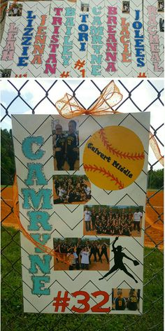 Made this for the Calvert Middle School 8th grade girls for their last regular season softball game.  Like a senior night for 8th graders.