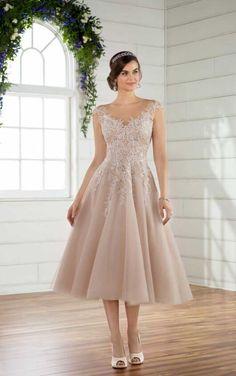 D2498 Short and Sweet Wedding Dress by Essense of Australia