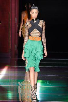 Spring 2016 Trends | Runway | Ruffled Up | Balmain Spring 2016 | POPSUGAR Fashion