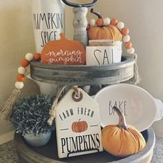 Youngsters Area Home Furnishings Fall Pumpkin Tiered Tray Thanksgiving Decorations, Seasonal Decor, Halloween Decorations, Halloween Kitchen Decor, Fall Decorations, Kitchen Decorations, Target Halloween Decor, Kitchen Centerpiece, Farmhouse Halloween