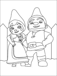 gnomeo and juliet halloween printable and coloring page gnomeo juliet couple in love
