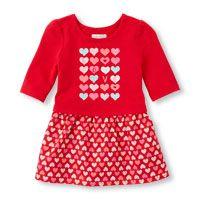 Toddler Girls Elbow Sleeve 'LOVE' Heart Dress