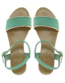 Faith | Faith Jaime Classic Mint Leather Sandals at ASOS