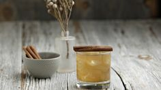 Bourbon, walnut syrup, apple cider and lemon juice. Sounds like an awesome cocktail.