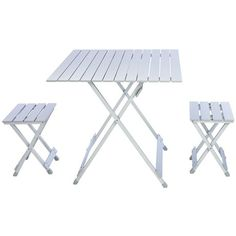Portable! Picnic Time Folding Travel Table with Carry Sling and Seats #DinerEnBlancCHI