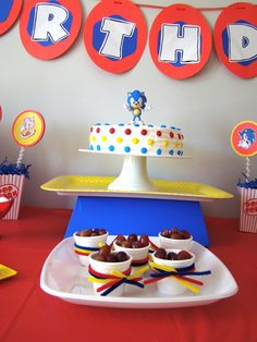 "Photo 6 of 21: Sonic the Hedgehog / Birthday "" Sonic Sebastian 6th Birthday party!"""