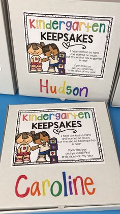 FREE Kindergarten Keepsakes Box and Poem - end of the school year kindergarten memory book