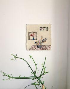 jaime rugh: weaving for susan Weaving Textiles, Weaving Art, Tapestry Weaving, Weaving Designs, D Craft, Soft Sculpture, Textile Patterns, Cool Artwork, Decoration