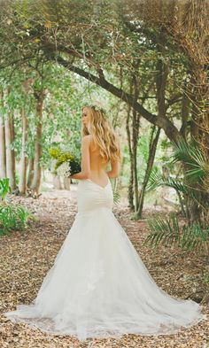 Stunning low-backed 'Charleston' Gown by Katie May Bridal Los Angeles #lowback #weddingdress