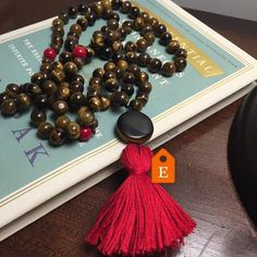 Checkout what my Tuesday meditation yielded!  This energy balancing protective & solar plexus supporting tiger eye mala!  It's for sale on etsy!