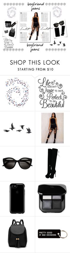 """""""BoYfRiEnD JeAnS"""" by jaz-melendrez ❤ liked on Polyvore featuring Pier 1 Imports, Jayson Home, Speck, Various Projects and White House Black Market"""