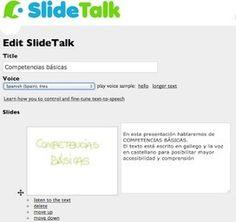 En la nube TIC: SlideTalk: presentaciones con voz