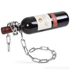 Chain Wine Bottle Holder, Bottle Rack - Makes it look like it's floating!